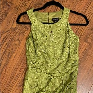 Enfocus Green Lace Maxi Dress 8